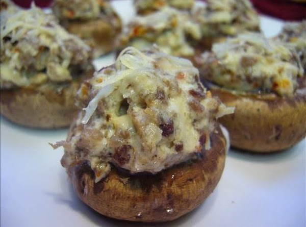 Spicy Sausage Stuffed Monterey Mushrooms Recipe
