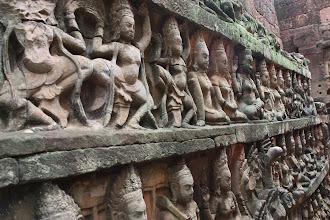 Photo: Year 2 Day 44 - Amazing, Detailed Reliefs on the Inner Wall of the Terrace of the Leper King
