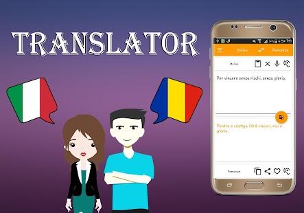 Italian To Romanian Translator - náhled