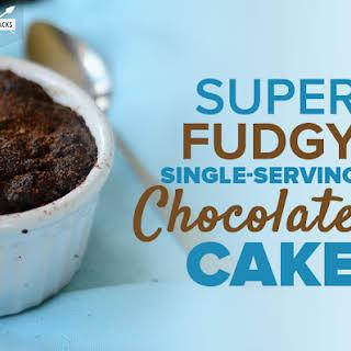 Super Fudgy Single-serving Chocolate Cake.