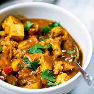 Vegetarian Tofu Cashew Coconut Curry.