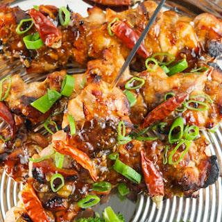 General Gau's Chicken Kabob.