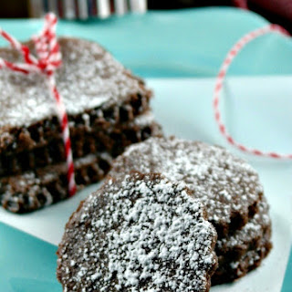 Chocolate Shortbread Snow Cookies