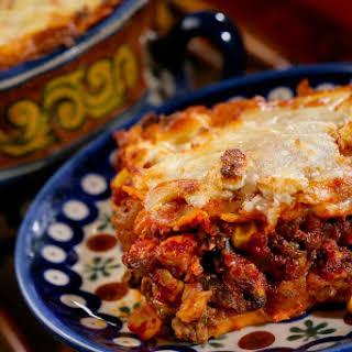 Hearty Mexican Lasagna.