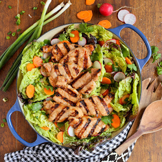 Grilled Asian Pork Tenderloin Salad with Honey-Ginger Vinaigrette