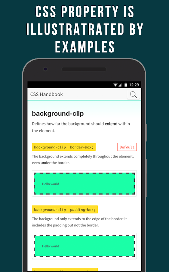 CSS Handbook: Learn by example- screenshot