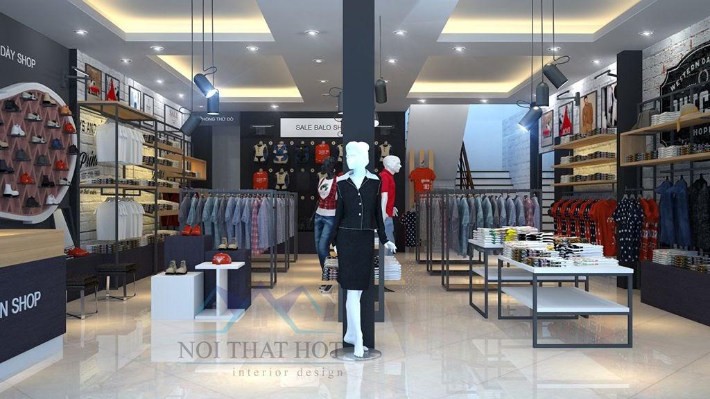 thiết kế shop thời trang tinh tế