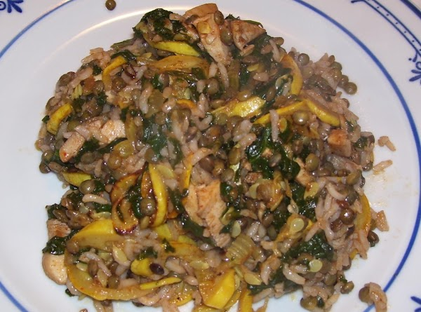 Rice & Lentils With Vegetables (chicken Optional) Recipe