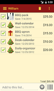 Gift List screenshot 4