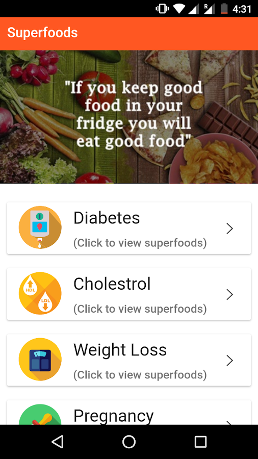 Superfoods- screenshot