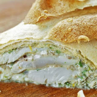 Trout in Homemade Filo Pastry.