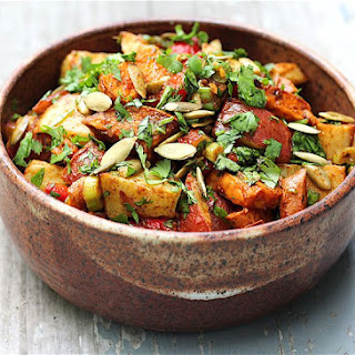 Roasted Mexican Sweet and White Potato Salad.