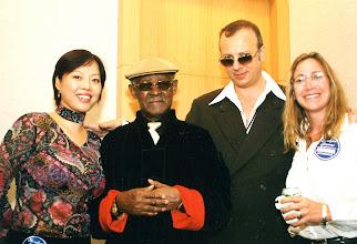 Photo: WIth Sally, Ibrahim and Jody backstage @ HKCEC 2003. David Tang had just given Ibrahim his new jacket!