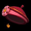 丸リボンバレンティン帽子