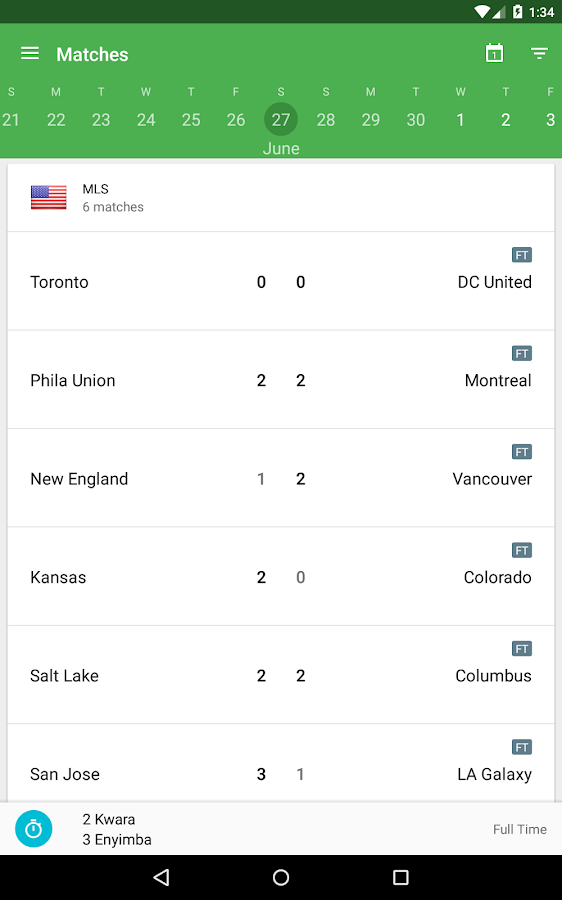 CrowdScores - Live Scores- screenshot