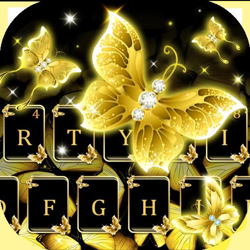 Gold butterfly keyboard