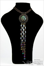 Photo: Cravat in Nacre and Hematite - Краватка з перламутром і гематитом