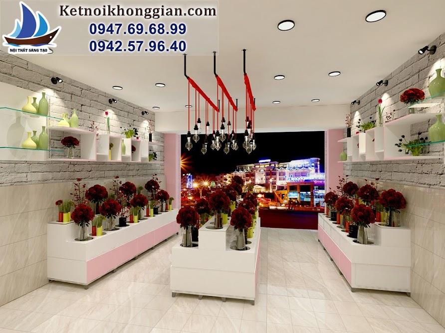 thiết kế cửa hàng hoa chị Châu chua láng