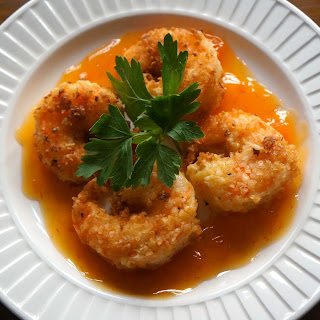 Coconut Shrimp with Pineapple Curry Sauce