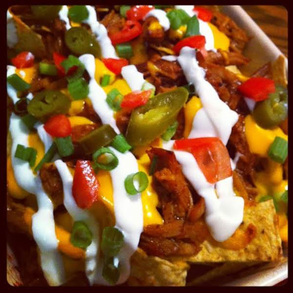 From Instagram: Bbq Pulled Pork Nachos---i Had These At Ron's Company Picnic From A Food Truck And It Was Delicious. Of Course, I Had To Make My Own Version