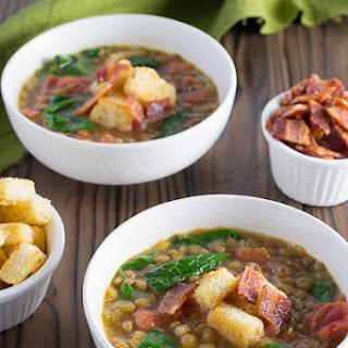 Bacon Lettuce Tomato Lentil Soup