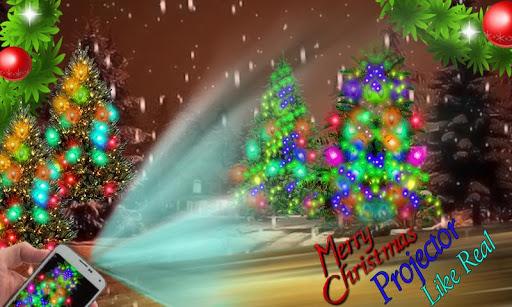 クリスマスツリープロジェクターの悪ふざけ