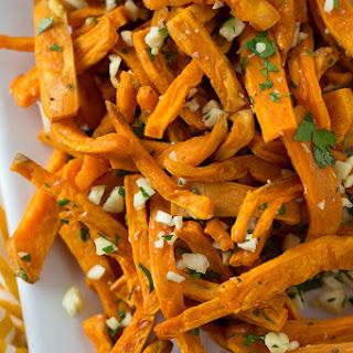 Garlic Sweet Potato Fries