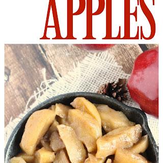 Brown Sugar Cinnamon Skillet Apples.