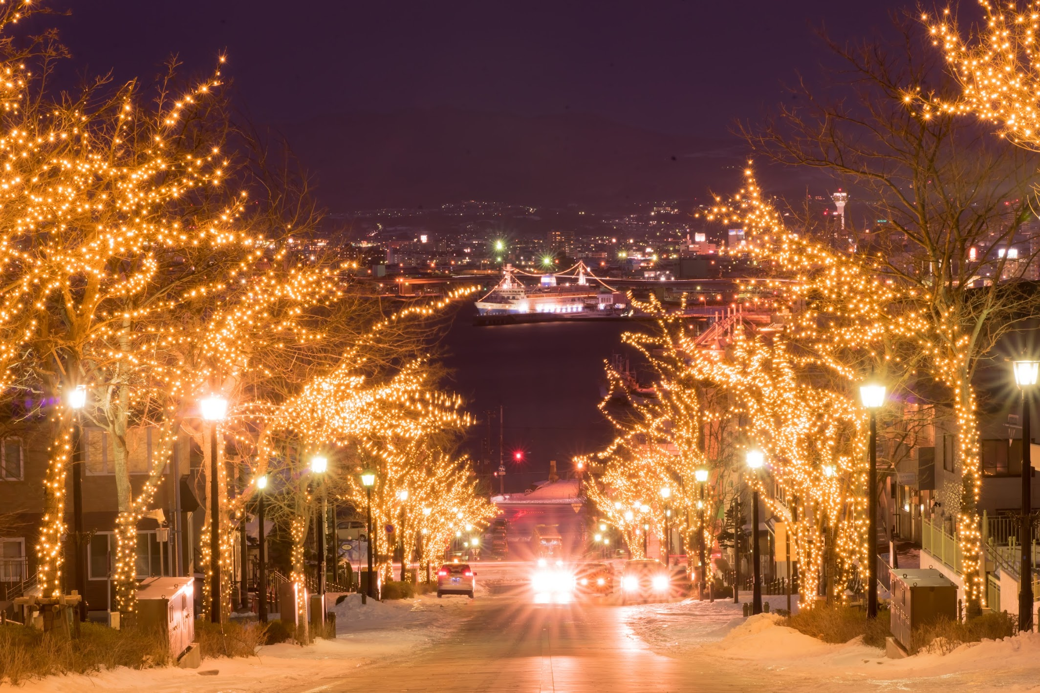 Hakodate Hachiman-Zaka Slope light-up2