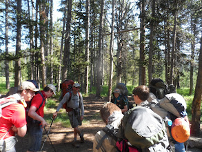 Photo: getting ready to move to the next camp site