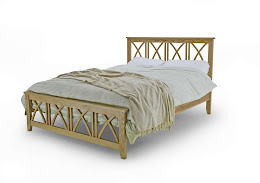 Solid Oak Contemporary style Bedstead