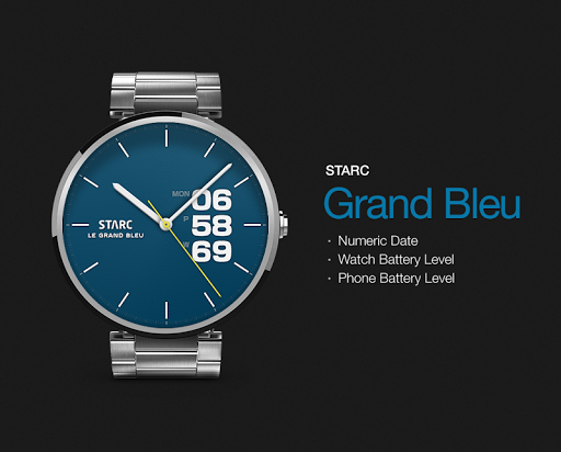 Le Grand Bleu watchface by Sta