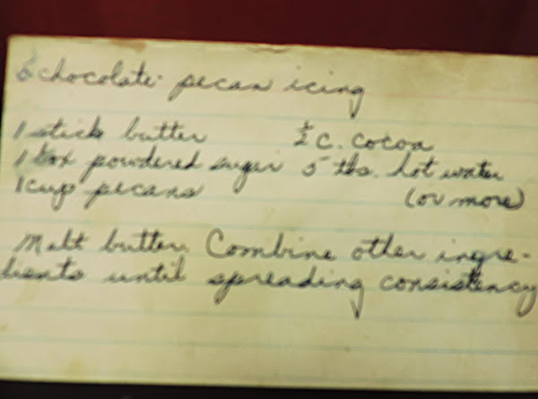 Chocolate Pecan Frosting Recipe