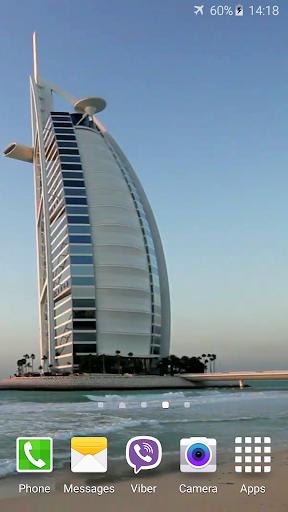 Dubai Jumeirah Beach Video LWP