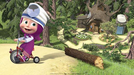 Masha and the Bear: Free Dentist Games for Kids apkpoly screenshots 3