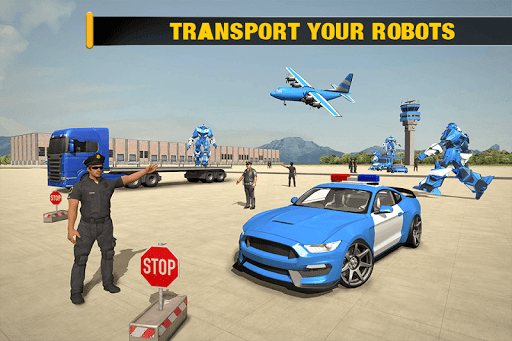 US Police Robot Car - Police Plane Transport Ship 1.2 screenshots 3