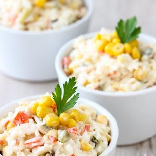 Rice Crab Stick Salad.