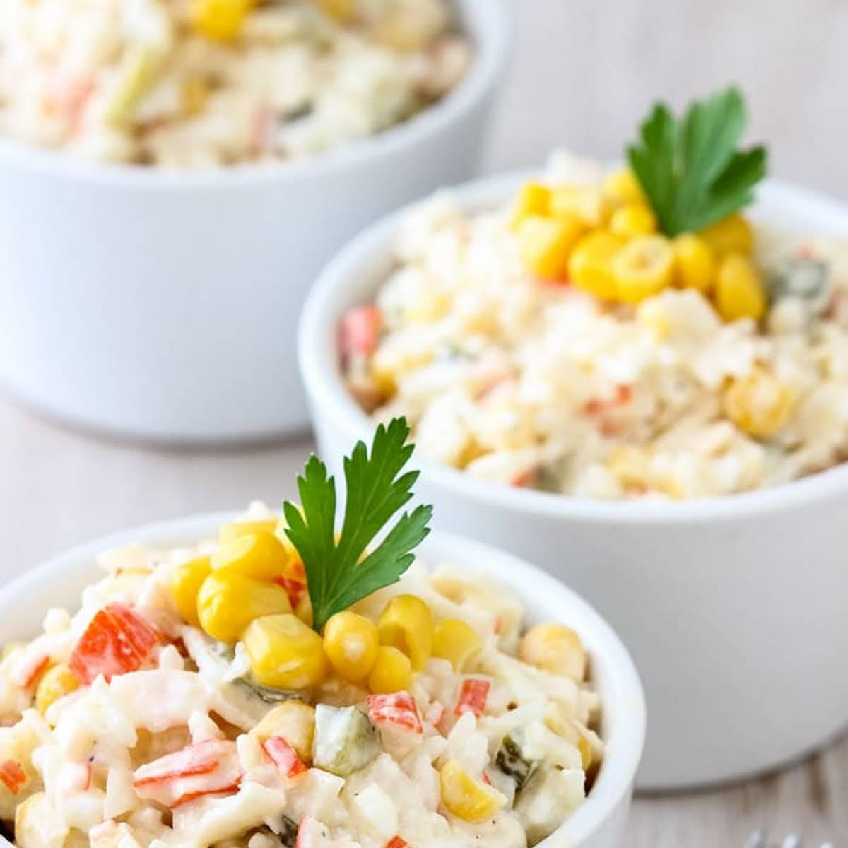 Rice Crab Stick Salad