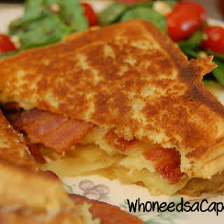Grilled Cheese with Bacon, Apples & Onions.
