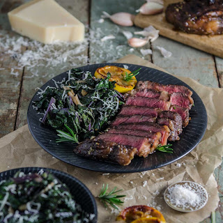 Balsamic and Rosemary Steak with SautéEd Kale Recipe