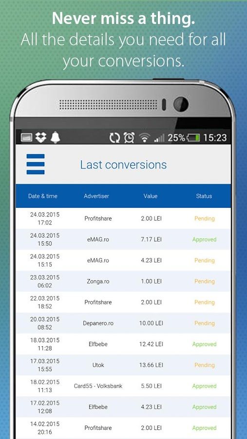 Profitshare- screenshot