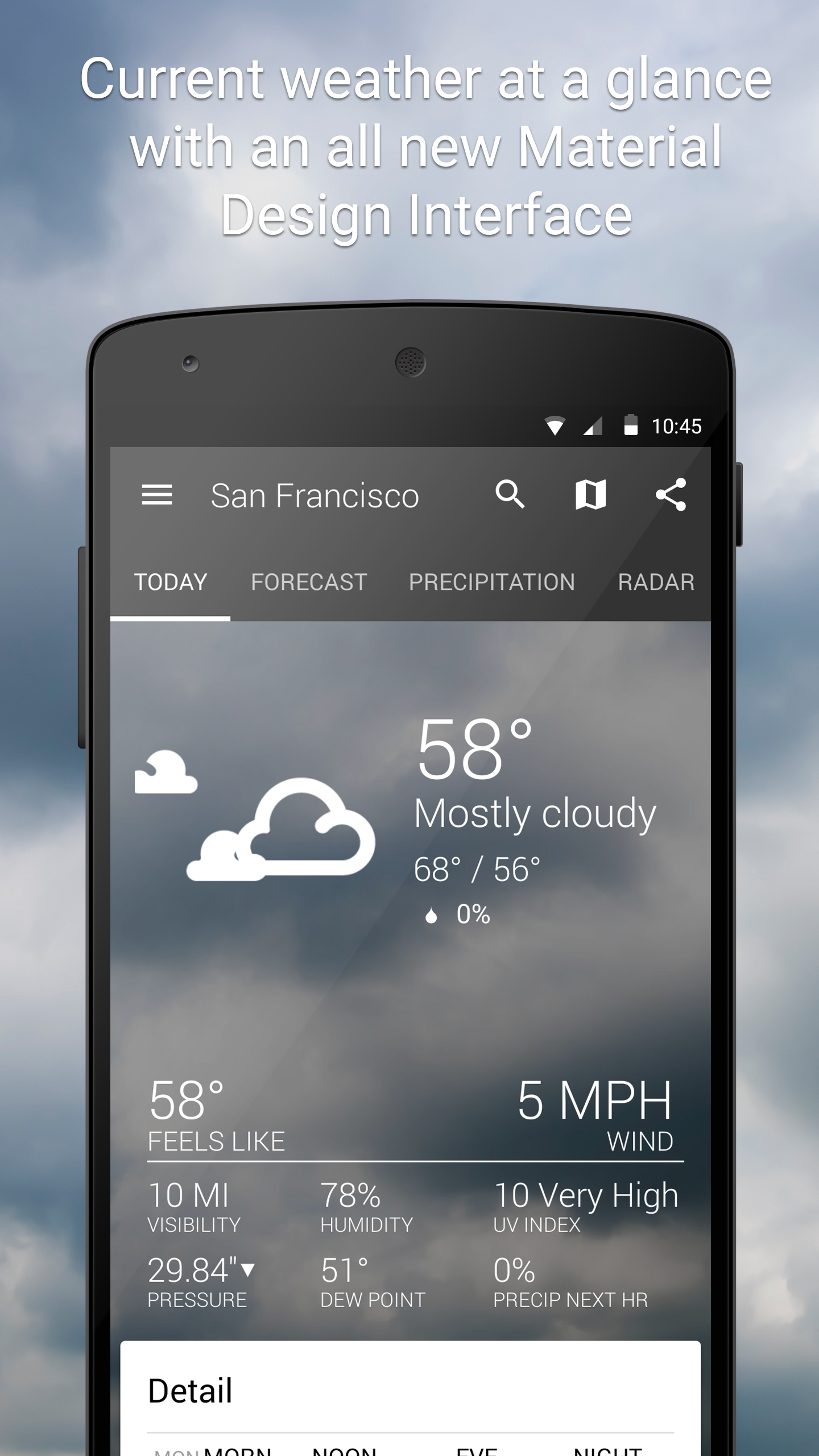 1Weather:Widget Forecast Radar screenshot #1