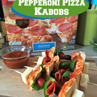 Game Day Pepperoni Pizza Kabobs.