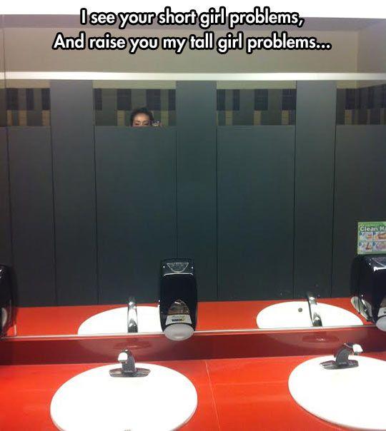 Toilet door peeking is unquestionably your factor.