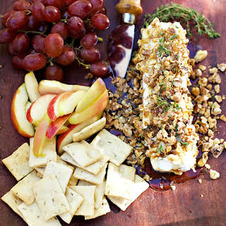 Walnut-Crusted Goat Cheese with Thyme Honey.