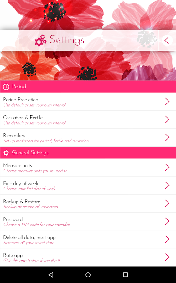 Period Calendar, Cycle Tracker - Android Apps on Google Play Menstrual Cycle Calendar App