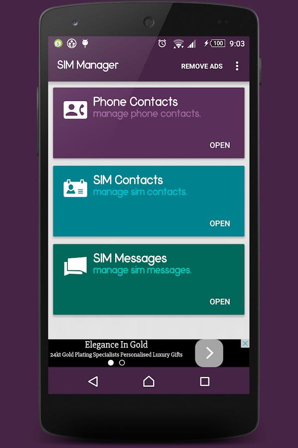 SIM Manager- screenshot