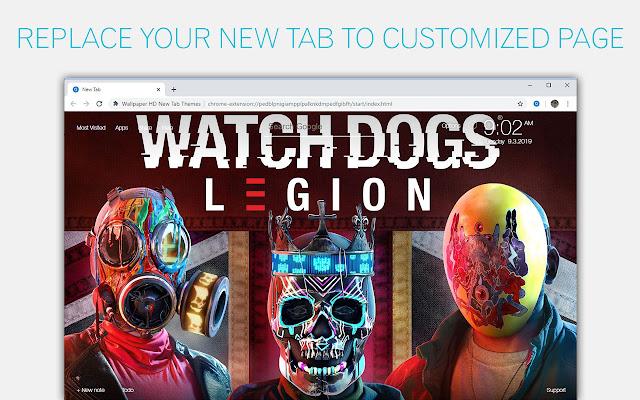Watch Dogs Legion Wallpaper HD Custom New Tab
