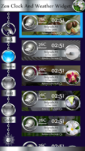 Zen Clock And Weather Widget - náhled