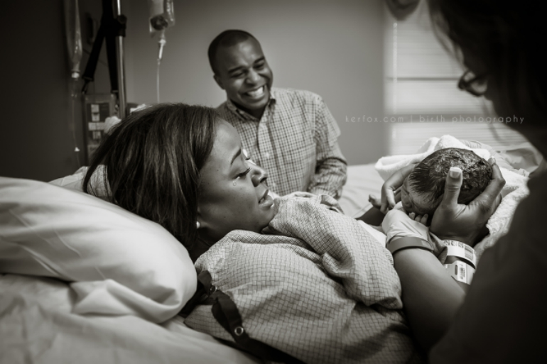 Moms See Their Newborns for the Very First Time